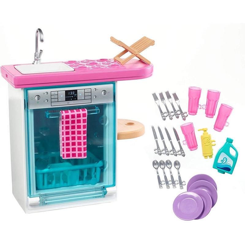Set Barbie by Mattel Estate Masina de spalat vase cu accesorii FXG35*