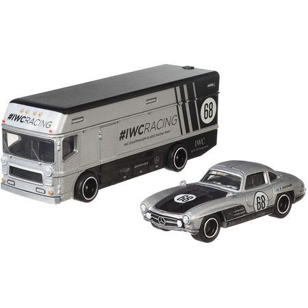 Camion Hot Wheels by Mattel Car Culture Euro Hauler cu masina Mercedes-Benz 300 SL*