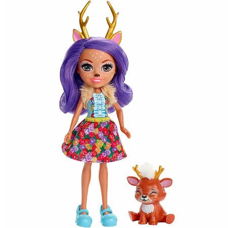 Papusa Enchantimals by Mattel Danessa Deer cu figurina*