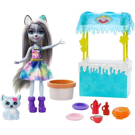 Set Enchantimals by Mattel papusa Winsley Wolf, figurina Trooper si accesorii*