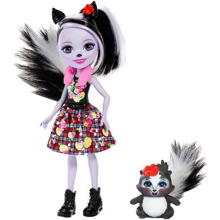 Papusa Enchantimals by Mattel Sage Skunk cu figurina*