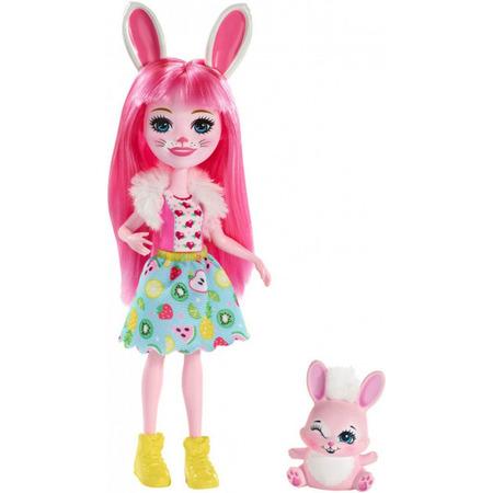Papusa Enchantimals by Mattel Bree Bunny cu figurina*