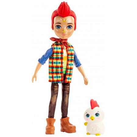 Papusa Enchantimals by Mattel Redward Rooster cu figurina Cluck*