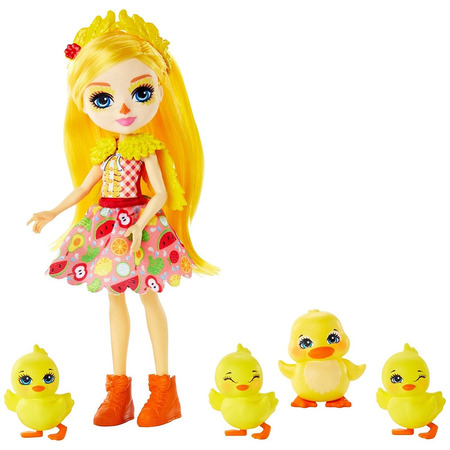 Set Enchantimals by Mattel Dinah Duck With Slosh And Family Papusa cu 4 figurine*