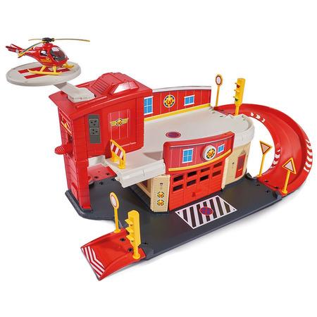 Pista de masini Dickie Toys Fireman Sam Fire Rescue Center cu elicopter si accesorii*