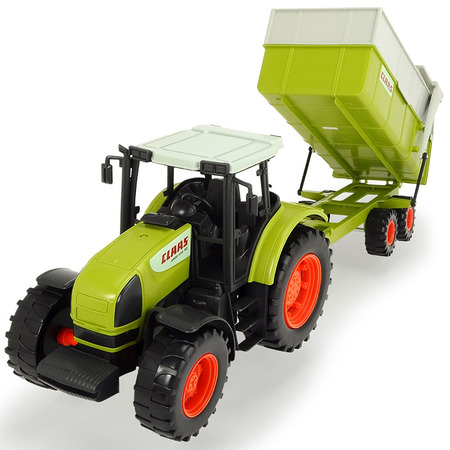 Tractor Dickie Toys Claas Ares cu remorca*