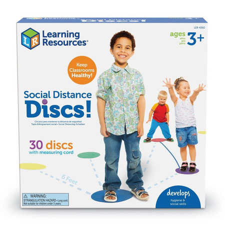 Discuri colorate  - Distantare sociala, Learning Resources*