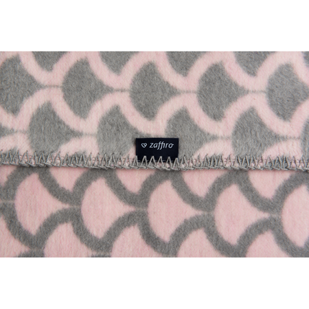Paturica bebelusi Bumbac Semicerc 75x100 Womar Zaffiro AN-KBS-01, roz/gri*