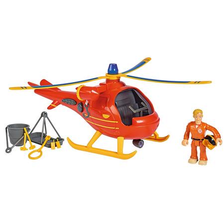 Jucarie Simba Elicopter Fireman Sam Wallaby cu figurina si accesorii*