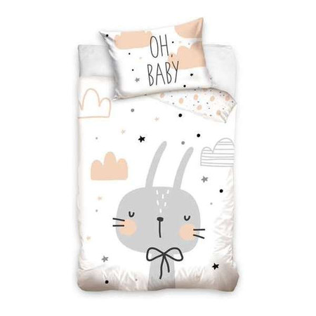 Set lenjerie pat copii Rabbit Oh Baby 100 x 135 + 40 x 60 SunCity CBX203005BABY*