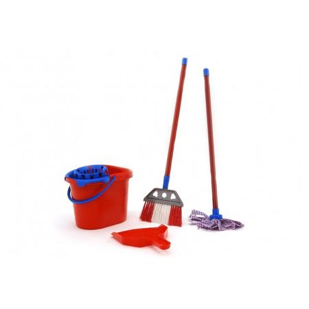 Set de curatenie pentru casa Globo cu mop matura galeata si foras pentru copii*