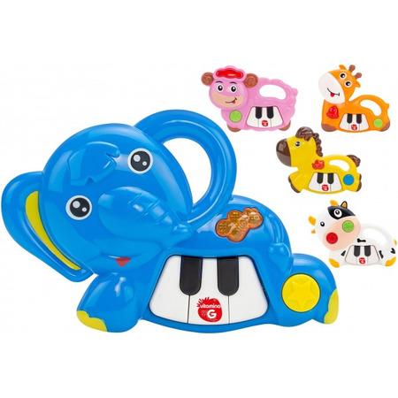 Jucarie muzicala Pian mini cu animal Globo cu sunete si lumini*
