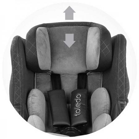 Scaun auto Chipolino Toledo 0-18 kg frappe cu sistem Isofix si sezut rotativ