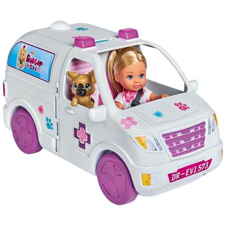 Set Simba Evi Love Doctor Evi 2 in 1 Vet Mobile masina cu papusa 12 cm si accesorii*