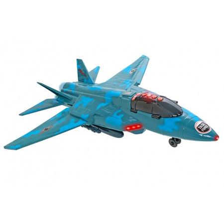 Avion militar Globo Wtoy 50 cm cu lumini si sunete*