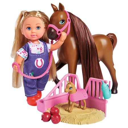 Set Simba Evi Love Doctor Evi Welcome Horse papusa 12 cm cu figurina cal si accesorii*