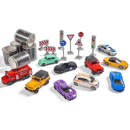 Set Majorette Mega box 10 masinute si accesorii*