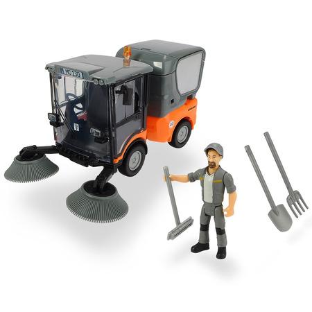 Masina Dickie Toys Playlife Street Sweeper cu figurina si accesorii*