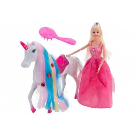 Papusa cu unicorn globo wtoy cu lumini si diverse accesorii*