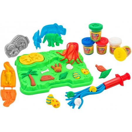 Set plastilina globo plansa cu dinozauri, Globo Kidea*
