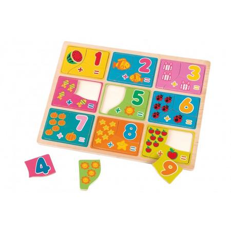 Puzzle din lemn globo cu numere pentru copii, Globo Legnoland*
