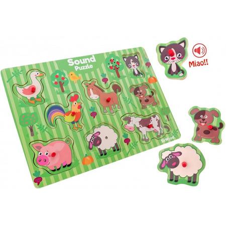 Puzzle animale cu sunete globo legnoland 8 piese*