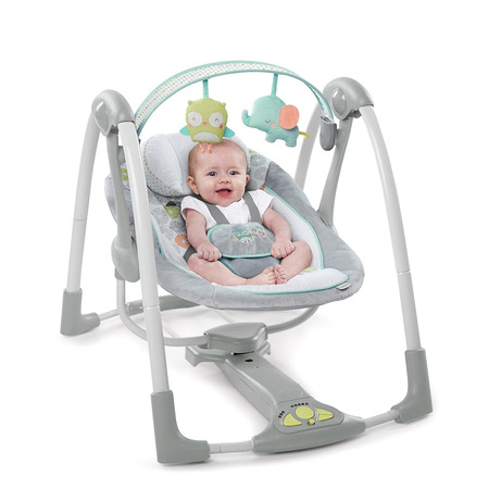 Leagan portabil swing 'n go portable swing™ - hugs & hoots™, Ingenuity*