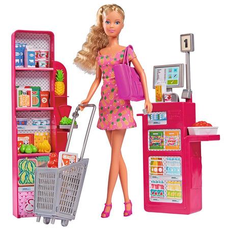 Set Simba Steffi Love Supermarket cu papusa 29 cm si accesorii*