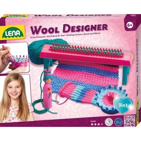 Set creativ de tricotat Lena modele din lana pentru copii*