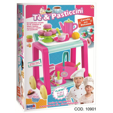 Carucior pentru servirea ceaiului cu accesorii RS Toys*