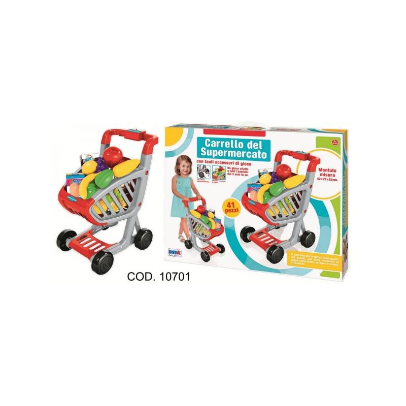Carucior supermarket cu accesorii RS Toys 41 piese*