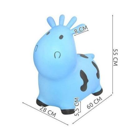 Jucarie gonflabila de sarit Vacuta Kruzzel MY17452, albastru*