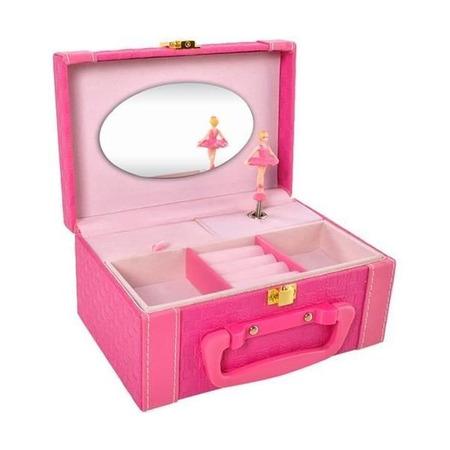 Cutie bijuterii muzicala cu balerina Iso Trade MY17459, roz*