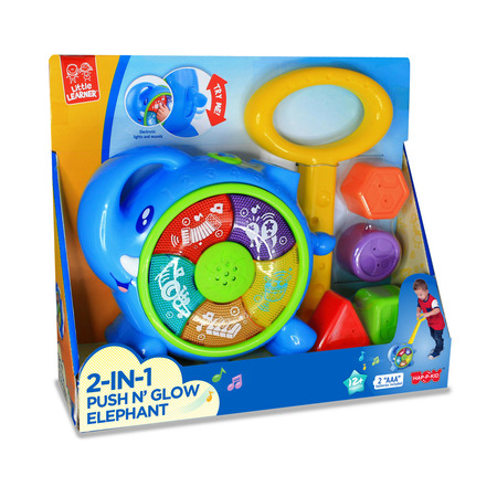 Jucarie de impins 2 in 1 - Elefantel, Little Learner*