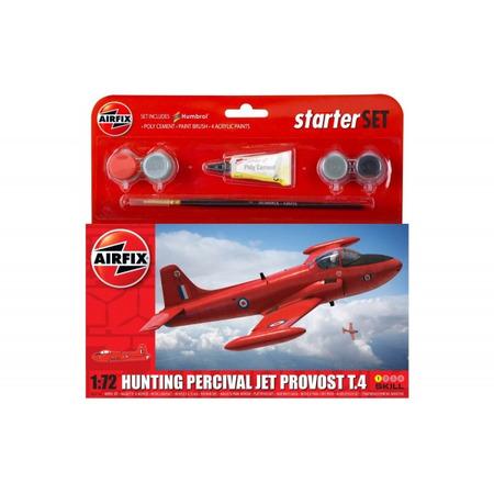 Kit constructie Airfix avion Hunting Percival Jet Provost T.4 Starter Set 1:72*