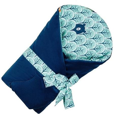 Paturica de infasat multifunctionala Velvet Infantilo IF19174, turcoaz/albastru inchis*