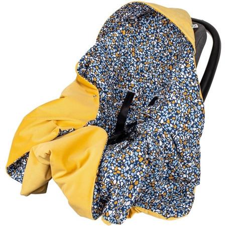 Paturica de infasat pentru scaun auto Velvet Infantilo IF19109, stones/galben*