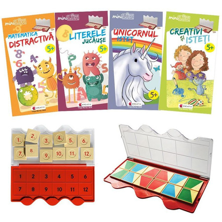 Set joc educativ LUK, varsta 5 ani, Matematica, limba romana, logica si creativitate Editura Kreativ EK6151*