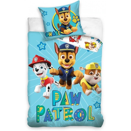 Set lenjerie pat copii Paw Patrol Chase 100 x 135 + 40 x 60 SunCity CBX202005PAW, albastru*