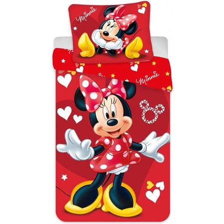 Set lenjerie pat copii Minnie Red 100 x 135 + 40 x 60 SunCity JFK025215, rosu*
