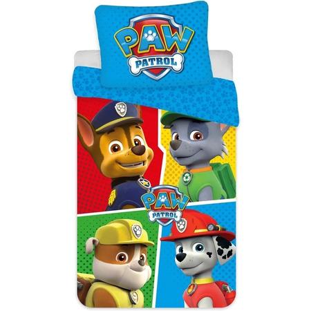 Set lenjerie pat copii Paw Patrol Team 140 x 200 + 70 x 90 SunCity BRM004863, albastru*