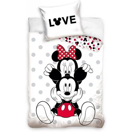 Set lenjerie pat copii Minnie Love 140 x 200 + 70 x 90 SunCity CBX208002MCK*