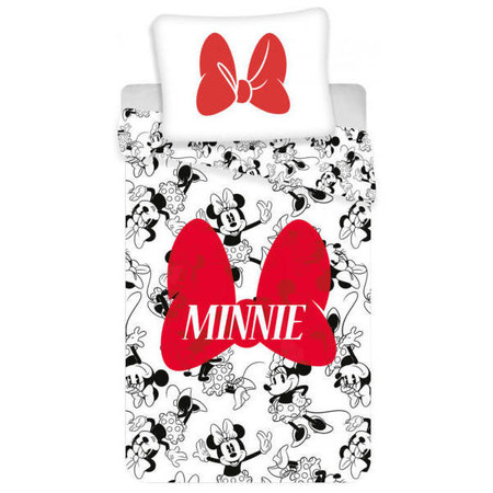 Set lenjerie pat copii MInnie Bow 140 x 200 + 70 x 90 SunCity JFK022481*