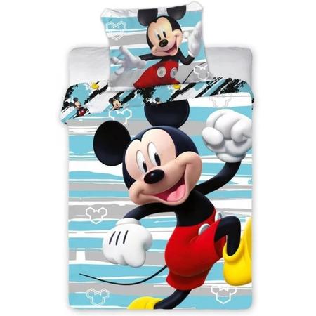 Set lenjerie pat copii Mickey Run 100 x 135 + 40 x 60 SunCity FRA586646, albastru*
