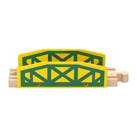 Circuit Trenulet din Lemn 100 piese Iso Trade MY17467*