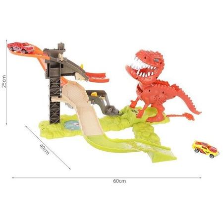 Set pista lansator Dinozaur cu 2 masinute incluse Iso Trade MY17481*