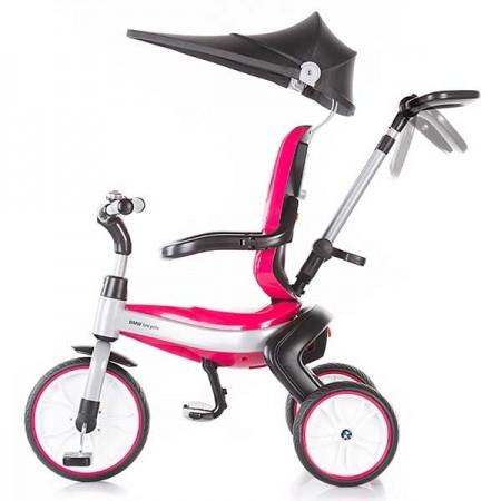Tricicleta copii, pliabila, maner parental, 1.5 - 3 ani, roz, Chipolino BMW