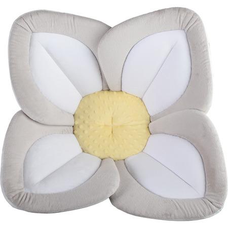 Cadita de plus si salteluta de joaca Lotus BloomingBath BB105L, gri/alb/galben*