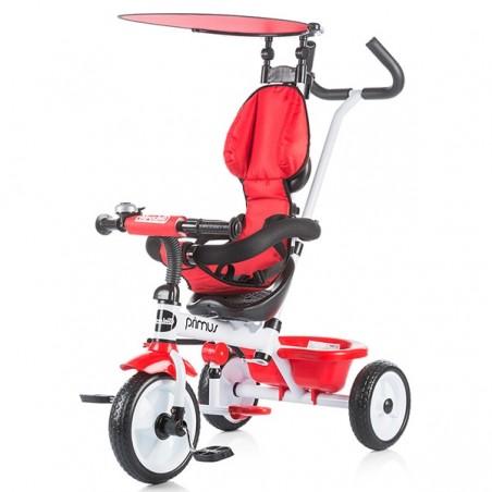 Tricicleta copii, copertina ajustabila, rosu, negru, Chipolino Primus