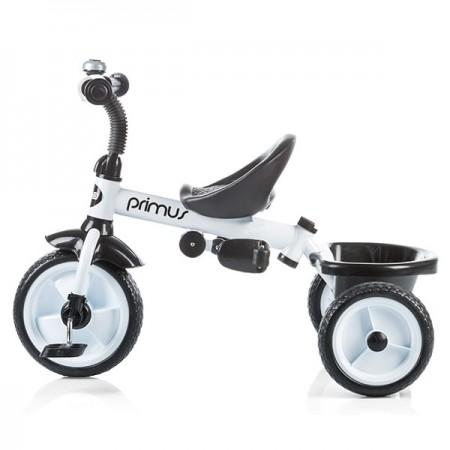 Tricicleta copii, copertina ajustabila, negru, alb, Chipolino Primus
